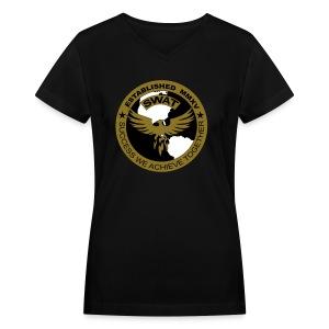 GOLD Women's V-Neck - Women's V-Neck T-Shirt