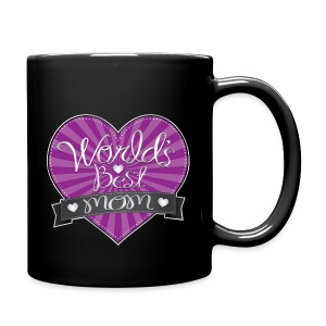 World's Best Mom Purple Heart - Full Color Mug