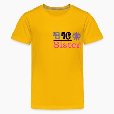Big Sister Gold Color Tshirts