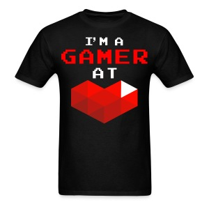 I'm A Gamer At Heart Black - Men's T-Shirt