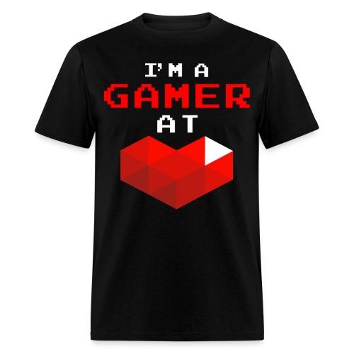 I'm A Gamer At Heart Black - Men's T-Shirt