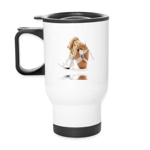 Secret Dreams - Fallen Angel Girl Coffee Cup - Travel Mug