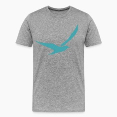 Green bird flying silhouette T-Shirts