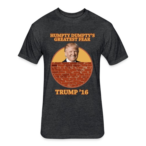Mens Fitted Trump Wall Shirt - Humpty Dumpty - Fitted Cotton/Poly T-Shirt by Next Level