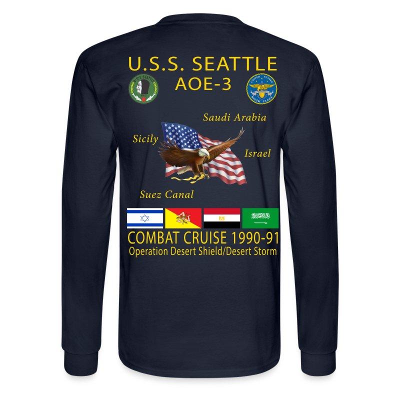 Uss Seattle 1990 91 Cruise Shirt Long Sleeve T Shirt