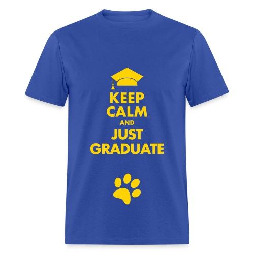 graduate shirt (blue) - Men's T-Shirt