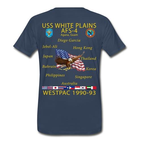 USS WHITE PLAINS AFS 4 CUSTOM ORDER SHIRT - Men's Premium T-Shirt