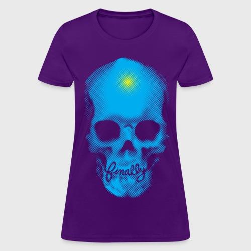 Finally Skull Punk Cyan - Women's T-Shirt