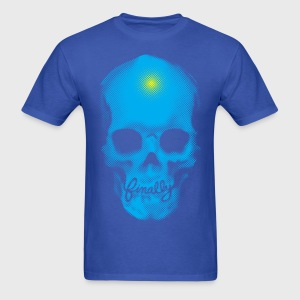 Finally Skull Punk Cyan - Men's T-Shirt