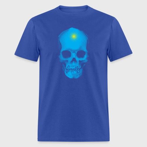 Finally Skull Punk Cyan - Men's T-Shirt