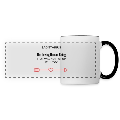 Apron Sagittarius Funny - Panoramic Mug