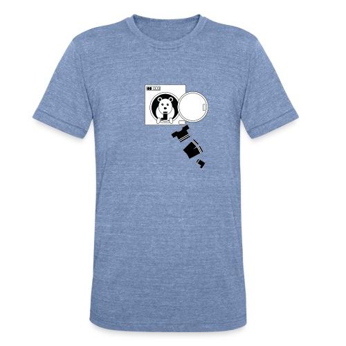 Sock Monster - men, sky blue t-shirt  - Unisex Tri-Blend T-Shirt