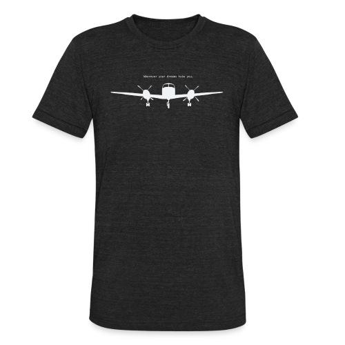 Wherever your dreams take you - men, charcoal black - Unisex Tri-Blend T-Shirt