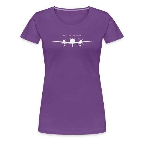 Wherever your dreams take you - women, purple t-shirt  - Women's Premium T-Shirt