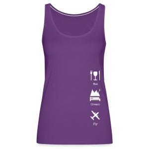 Eat Dream Fly women purple tank top - Women's Premium Tank Top