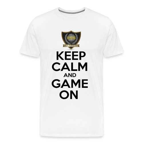 ESS Gaming Tshirt (keep calm and game on white) - Men's Premium T-Shirt