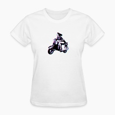 Vespa Scooter Girl Women's T-Shirts