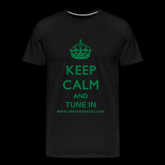 Keep Calm Tune In Grn/Ltr