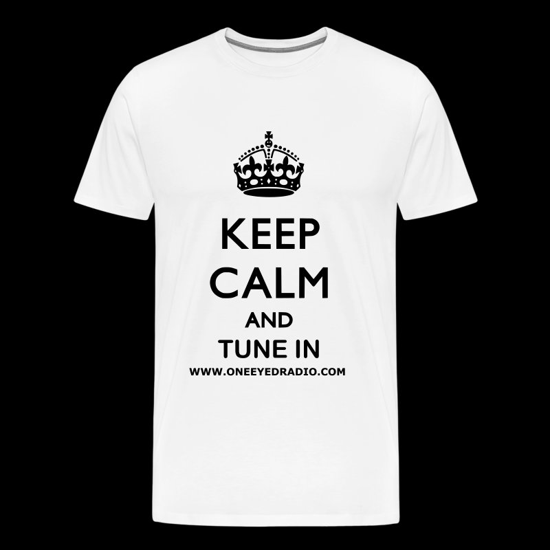 Keep Calm Tune In Blk/Ltr - Men's Premium T-Shirt