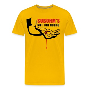 SUBOHM Not For Noobs Blood Tee - Men's Premium T-Shirt