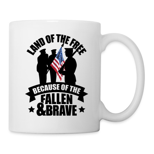 Land of Free Because of Fallen & Brave - Coffee/Tea Mug