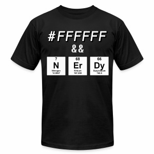 Elementally White & Nerdy T-Shirts - Men's T-Shirt by American Apparel