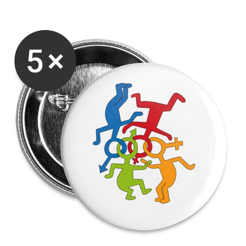 LOVE IS LOVE - Buttons small 1'' (5-pack)