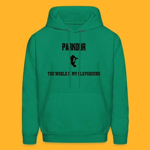 The world is my playground hoodie - Men's Hoodie