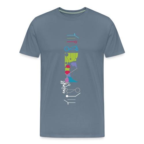 FLUNK-3 blue - T-shirt premium pour hommes