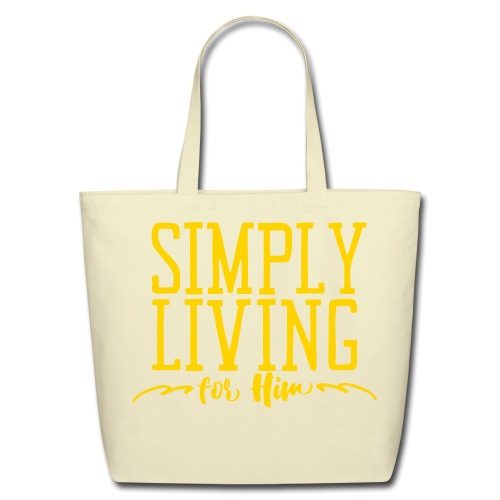 Simply Living For Him 3 - Eco-Friendly Cotton Tote