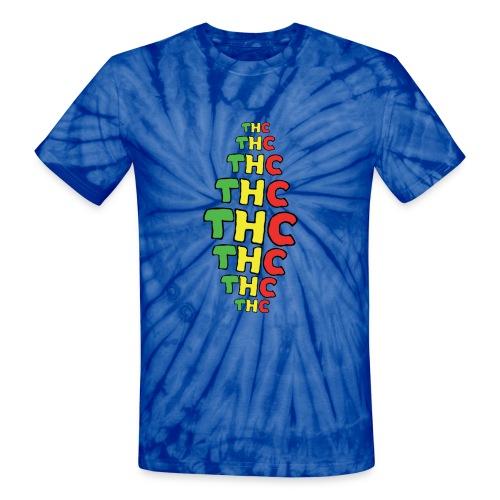 Tie Dye THC logo - Unisex Tie Dye T-Shirt