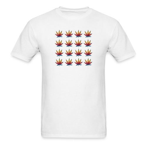 Multi color leaf - Men's T-Shirt