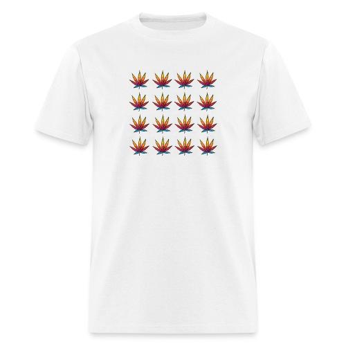 Multi color leaf - Men's T-Shirt