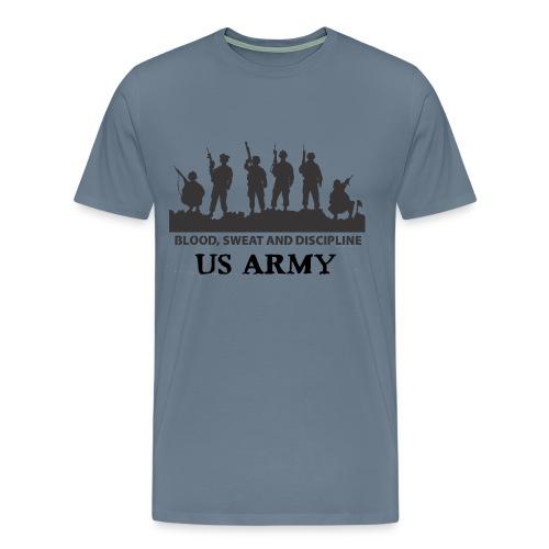 US ARMY - Blood Sweat and Discipline - Men's Premium T-Shirt