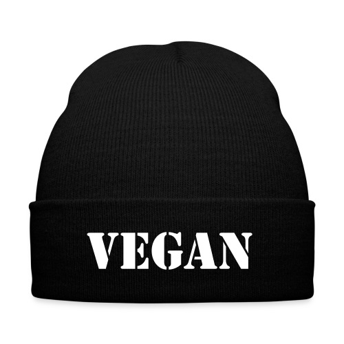 vegan cap - Knit Cap with Cuff Print