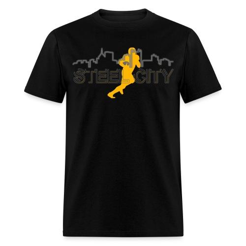 STEEL City Football Player - Men's T-Shirt