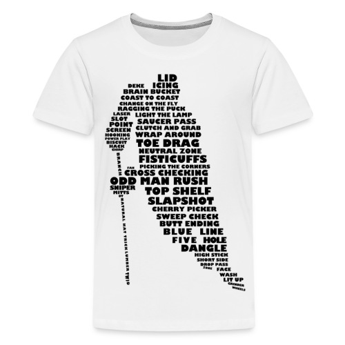Language of hockey tee - Kids' Premium T-Shirt