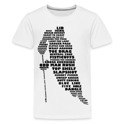 Language of hockey tee - Kids' Premium T-Shirt