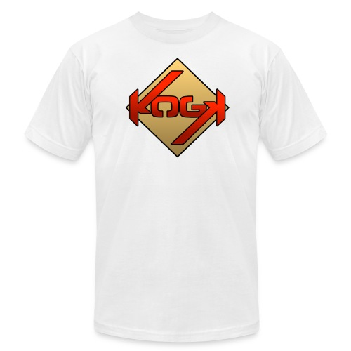 K.O.G.K Twitch Anniversary shirt (Red on Gold) - Men's Fine Jersey T-Shirt