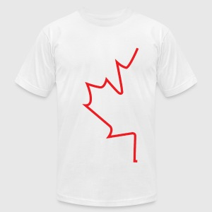 Half Maple Leaf - Men's T-Shirt by American Apparel