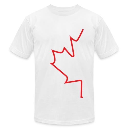 Half Maple Leaf - Men's Fine Jersey T-Shirt