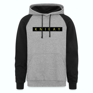 Gold Text Highlight Sweater - Colorblock Hoodie
