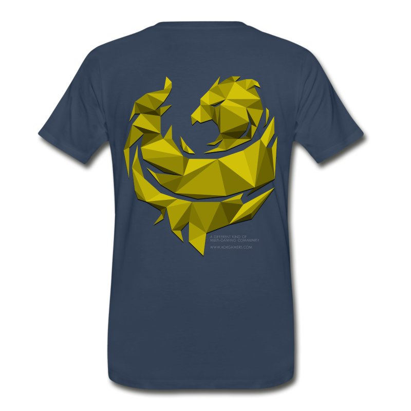 Yellow Poly Phoenix - Men's Premium T-Shirt