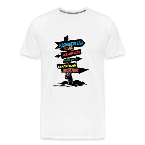 bouldering destinations - Men's Premium T-Shirt