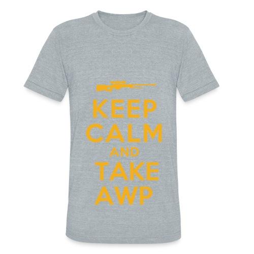 cs:go keep calm and take awp - Unisex Tri-Blend T-Shirt