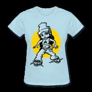 T-Shirts ~ Women's T-Shirt ~ Hip-hop girl and headphones