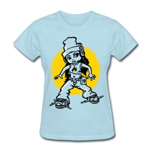 Hip-hop girl and headphones - Women's T-Shirt