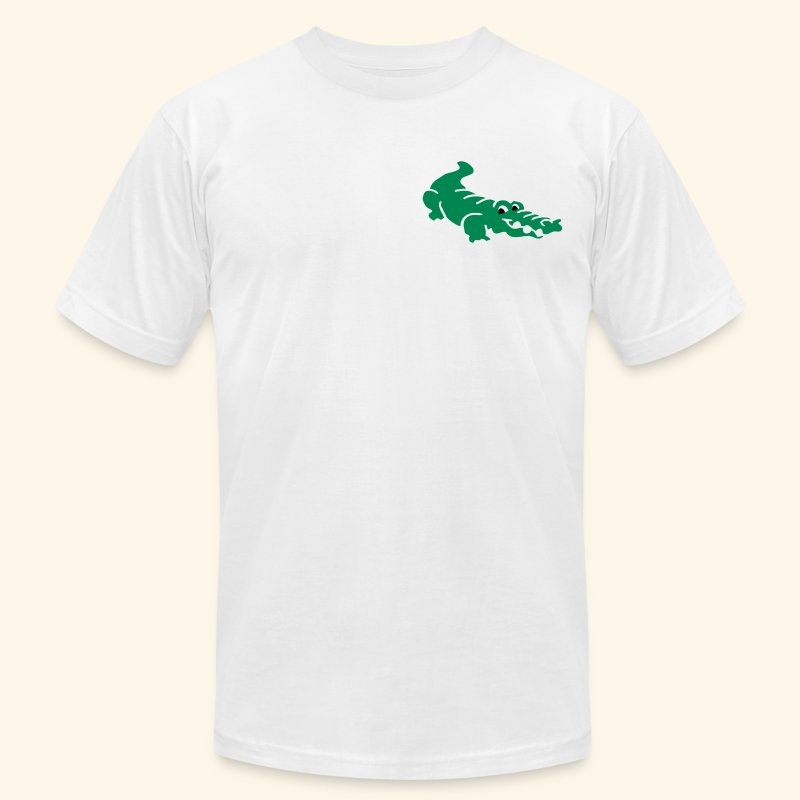 Alligator Croc by patjila2 - Men's T-Shirt by American Apparel