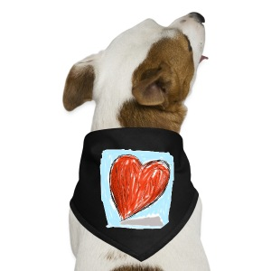 Sketched Heart | Dog Bandana - Dog Bandana