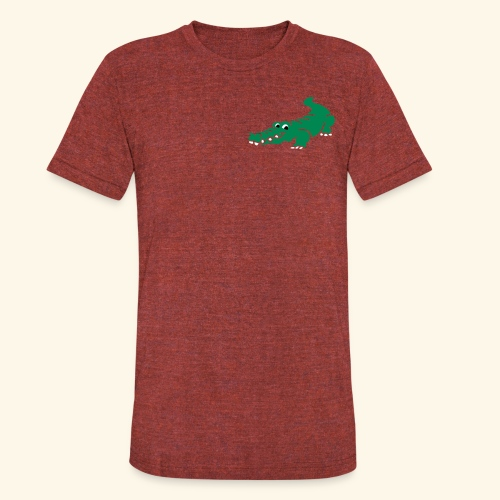 Alligator Croc by patjila2 - Unisex Tri-Blend T-Shirt by American Apparel